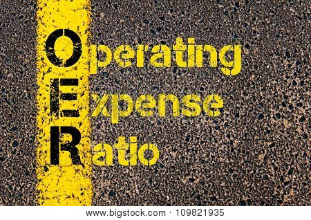 Accounting Business Acronym Oer Operating Expense Ratio