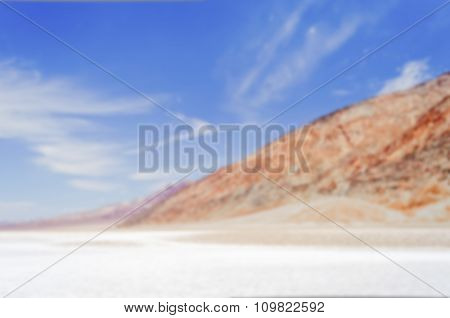 Defocused Background Of Badwater Basin, Death Valley, California