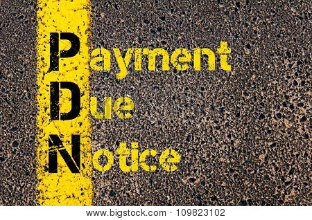 Accounting Business Acronym Pdn Payment Due Notice