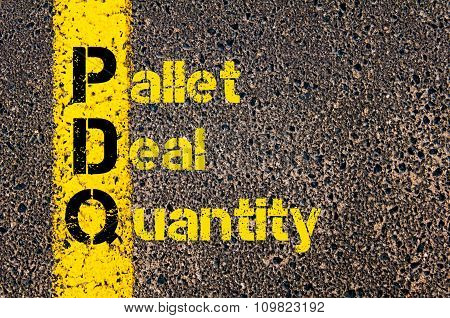 Accounting Business Acronym Pdq Pallet Deal Quantity