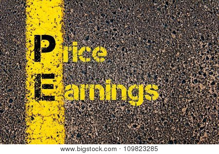 Accounting Business Acronym Pe Price Earnings