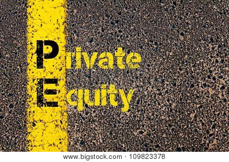 Accounting Business Acronym Pe Private Equity