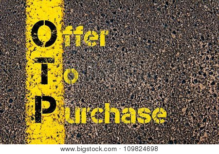 Accounting Business Acronym Otp Offer To Purchase