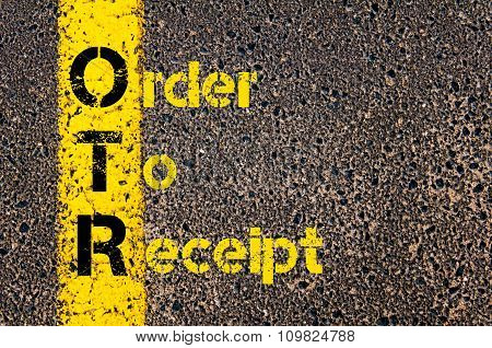 Accounting Business Acronym Otr Order To Receipt