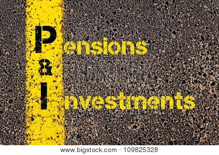 Accounting Business Acronym Pi Pensions And Investments