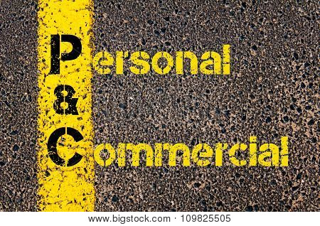 Accounting Business Acronym Pc Personal And Commercial