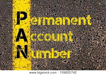 Accounting Business Acronym Pan Permanent Account Number