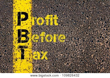 Accounting Business Acronym Pbt Profit Before Tax