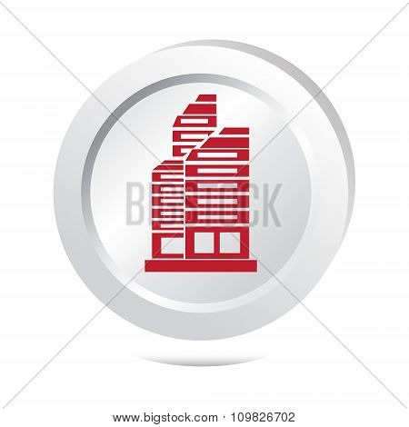 Office Building Button Icon