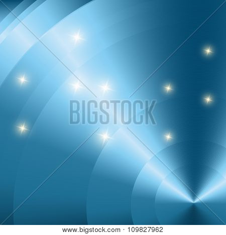 Abstract fare lens blue Vector Background