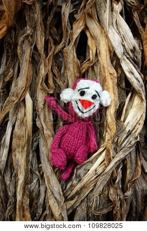Monkey, Symbol,  Intelligent, Handmade, Knitted Toy