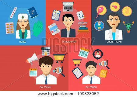 Human Profession Vector Concept