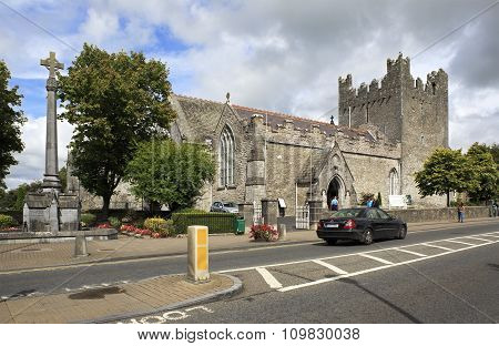 Architecture of ancient temples in the town Adare