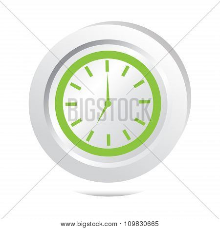 Clock, Wake Up Sign Button Icon