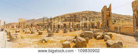 Persepolis ruins panoramic view