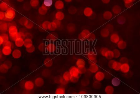 Abstract Red Bokeh On Dark Background
