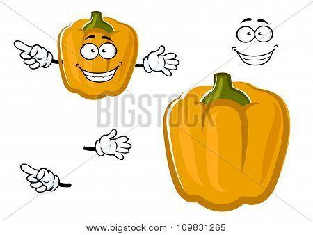 Cartoon sweet yellow bell pepper vegetable