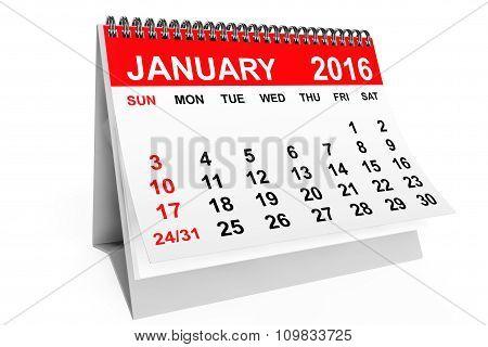 Calendar January 2016