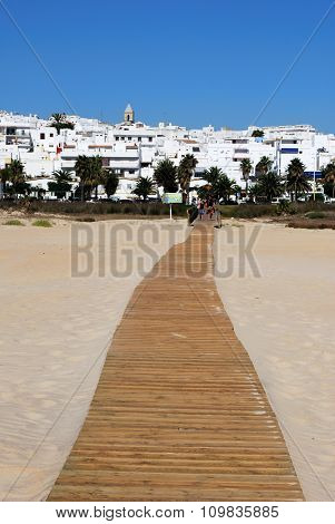 Beach and town, Conil de la Frontera.
