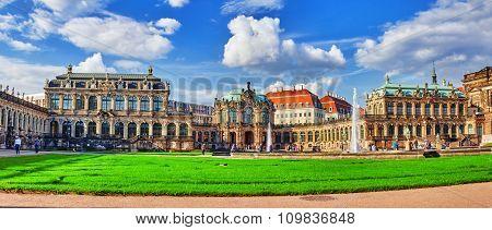 Dresden,germany-september 08,2015: Zwinger Palace (der Dresdner Zwinger) Art Gallery Of Dresden, Whi