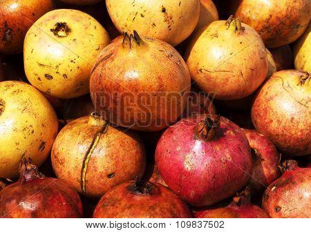 Pomegranate in a moroccan market