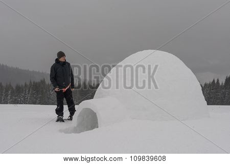igloo building in the high mountain