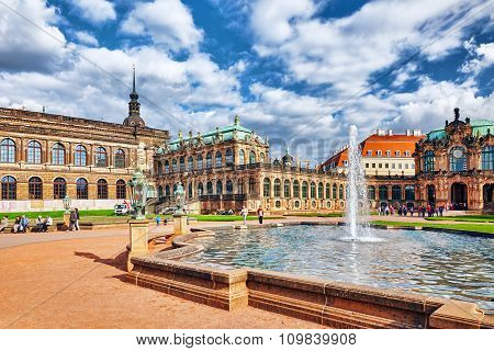 Dresden,germany-september 08,2015: Zwinger Palace (der Dresdner Zwinger) Art Gallery Of Dresden, Whi