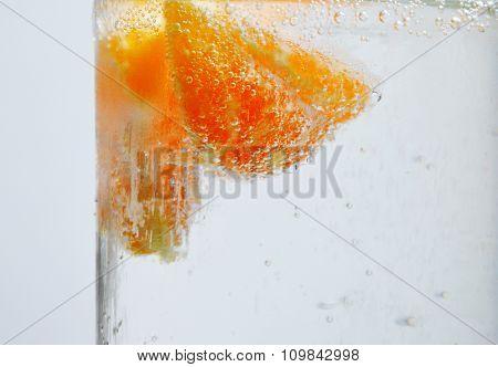 orange in soda