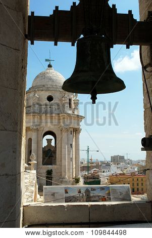 Cadiz Cathedral bell and tower.