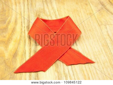 Red Ribbon Bookmark Isolated