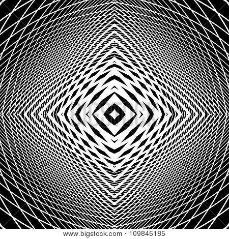 Design Monochrome Grid Textured Background