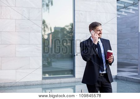 Businessman And Coffee