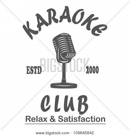 Karaoke club microphone retro song