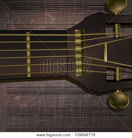 Musical Background Guitar Neck Uno