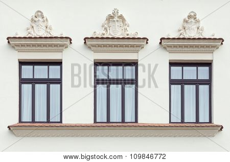 Three Decorated Palace Windows