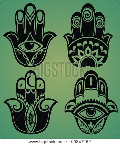 Collection of hamsa hands