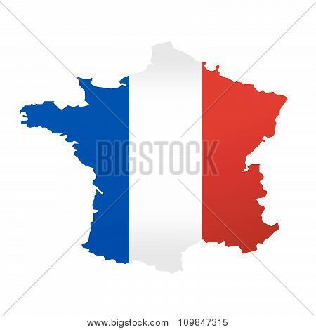 Map of France vector illustration on white background