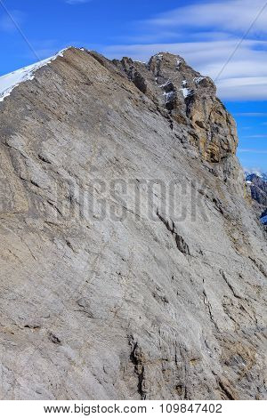 Summit Of Mt. Titlis In The Swiss Alps