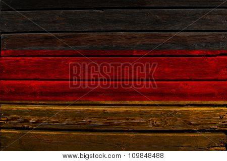 Flag of Germany on wood