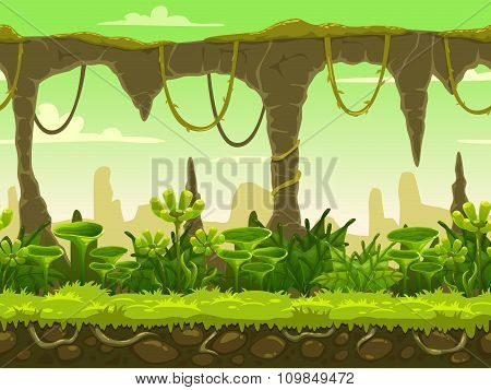 Seamless fantasy landscape