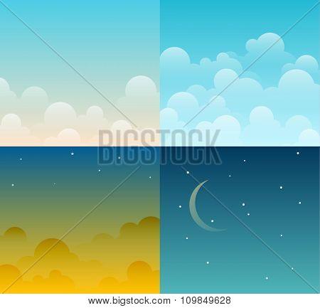 Set of sky illustrations
