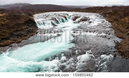 Bruarfoss (bridge Fall), Is A Waterfall On The River Bruara, In Southern Iceland