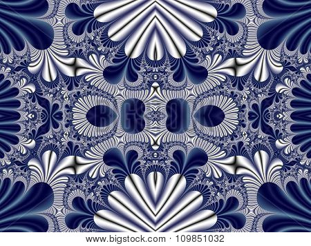 Fabulous Symmetrical Pattern For Background. Collection - Magical Satin. Artwork For Creative Design