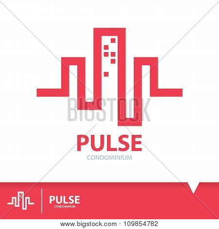 Pulse Condominium Icon Symbol
