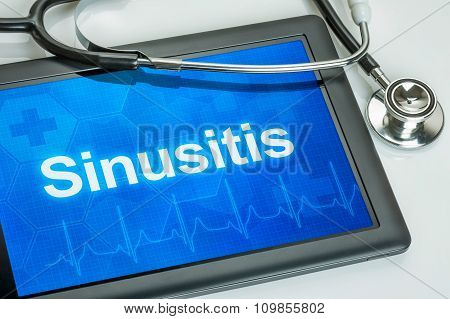 Tablet With The Diagnosis Sinusitis On The Display