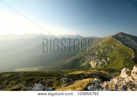 Tatra Mountains on a cloudless morning