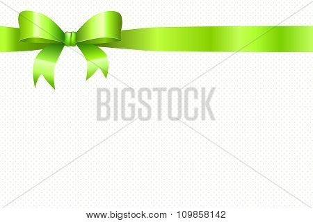 Background green circles pattern with bow vector
