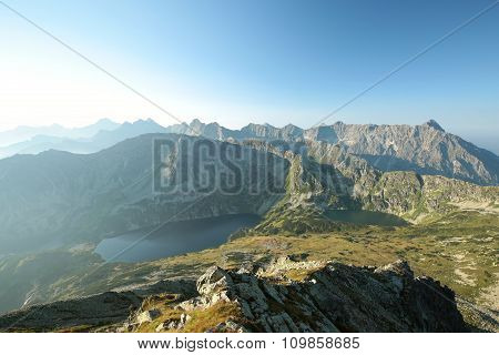 High mountains around the valley in Tatras