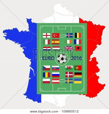 European championship on football 2016 in France