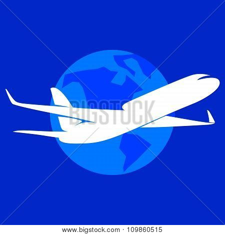 The plane vector logo.
